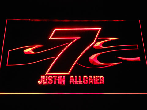 Image of Justin Allgaier 7 LED Neon Sign - Red - SafeSpecial