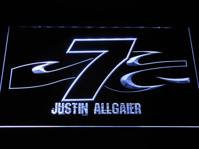 Justin Allgaier 7 LED Neon Sign - White - SafeSpecial