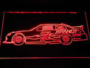 Justin Allgaier Race Car LED Neon Sign - Red - SafeSpecial