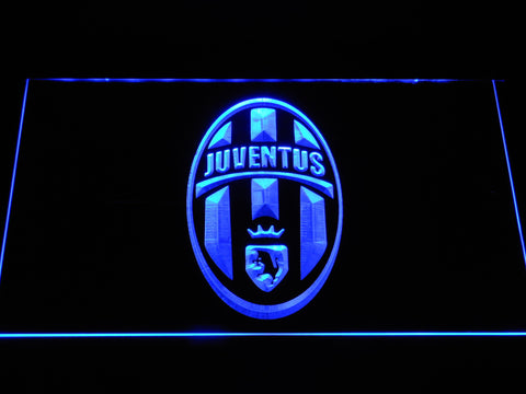 Image of Juventus FC Crest LED Neon Sign - Blue - SafeSpecial