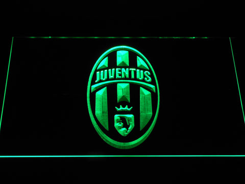 Image of Juventus FC Crest LED Neon Sign - Green - SafeSpecial