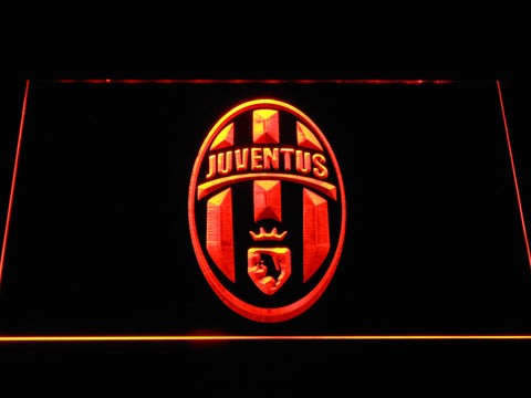 Juventus FC Crest LED Neon Sign - Orange - SafeSpecial