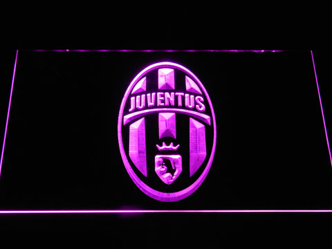 Image of Juventus FC Crest LED Neon Sign - Purple - SafeSpecial