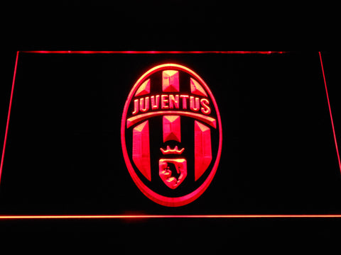 Image of Juventus FC Crest LED Neon Sign - Red - SafeSpecial