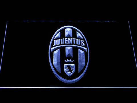 Image of Juventus FC Crest LED Neon Sign - White - SafeSpecial