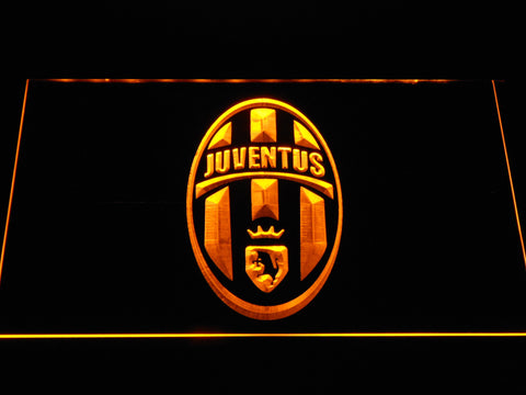 Image of Juventus FC Crest LED Neon Sign - Yellow - SafeSpecial