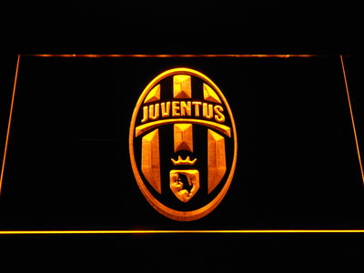 Juventus FC Crest LED Neon Sign - Yellow - SafeSpecial