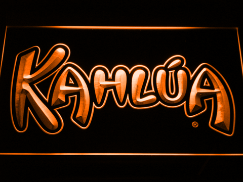 Kahlua LED Neon Sign - Orange - SafeSpecial