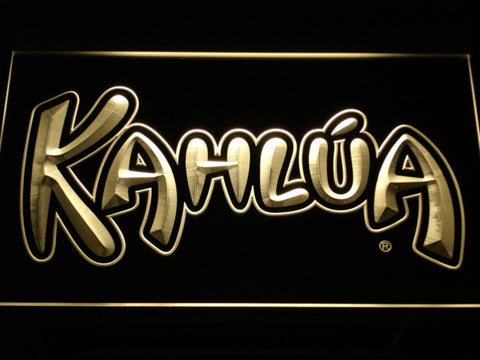 Kahlua LED Neon Sign - Yellow - SafeSpecial