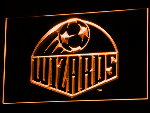Image of Kansas City Wizards LED Neon Sign - Legacy Edition - Orange - SafeSpecial