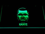 Kanye West Face LED Neon Sign - Green - SafeSpecial