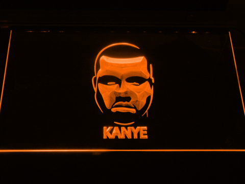 Kanye West Face LED Neon Sign - Orange - SafeSpecial