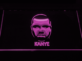 Kanye West Face LED Neon Sign - Purple - SafeSpecial