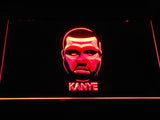 Kanye West Face LED Neon Sign - Red - SafeSpecial