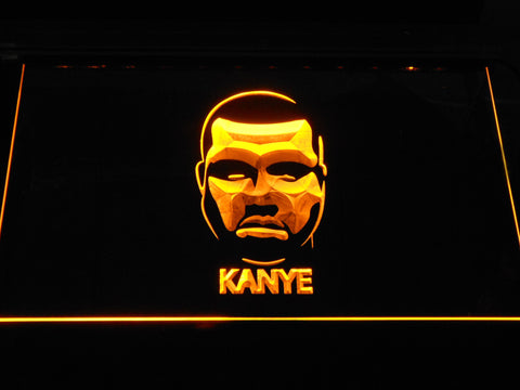 Kanye West Face LED Neon Sign - Yellow - SafeSpecial
