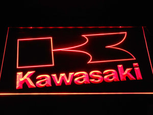 Kawasaki K Outline LED Neon Sign - Red - SafeSpecial