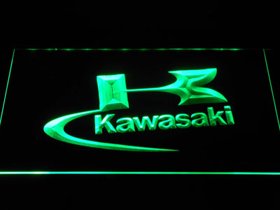 Kawasaki Logo LED Neon Sign - Green - SafeSpecial