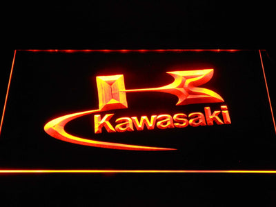 Kawasaki Logo LED Neon Sign - Orange - SafeSpecial
