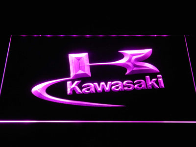 Kawasaki Logo LED Neon Sign - Purple - SafeSpecial