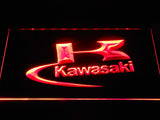 Kawasaki Logo LED Neon Sign - Red - SafeSpecial