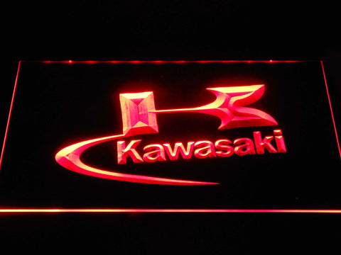 Image of Kawasaki Logo LED Neon Sign - Red - SafeSpecial