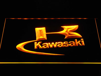 Kawasaki Logo LED Neon Sign - Yellow - SafeSpecial