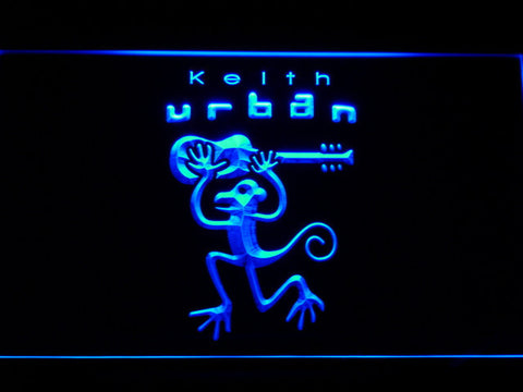 Keith Urban LED Neon Sign - Blue - SafeSpecial