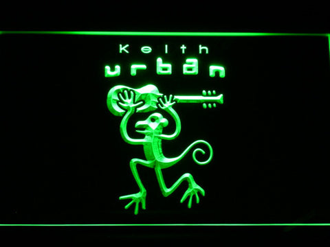 Image of Keith Urban LED Neon Sign - Green - SafeSpecial