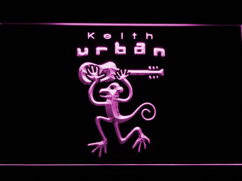 Image of Keith Urban LED Neon Sign - Purple - SafeSpecial