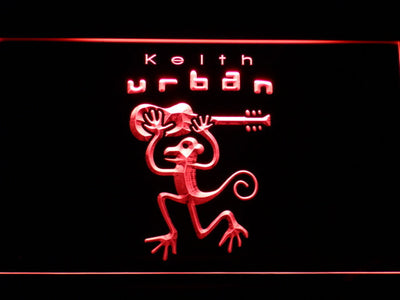 Keith Urban LED Neon Sign - Red - SafeSpecial