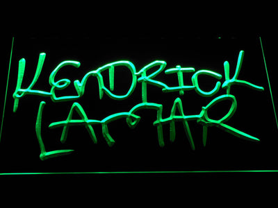 Kendrick Lamar LED Neon Sign - Green - SafeSpecial