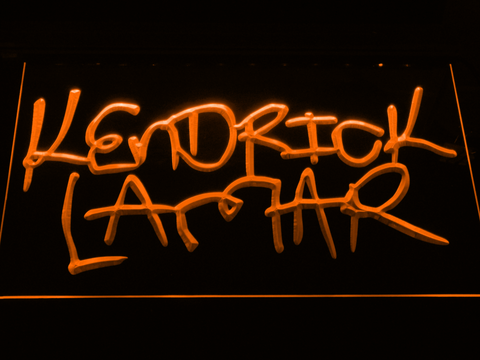 Kendrick Lamar LED Neon Sign - Orange - SafeSpecial