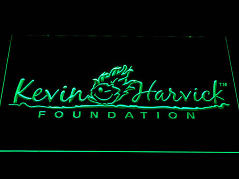 Image of Kevin Harvick Foundation LED Neon Sign - Green - SafeSpecial