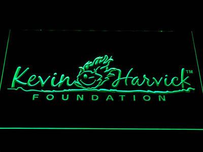 Kevin Harvick Foundation LED Neon Sign - Green - SafeSpecial