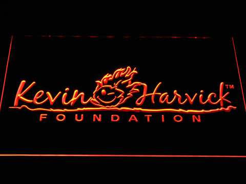 Image of Kevin Harvick Foundation LED Neon Sign - Orange - SafeSpecial