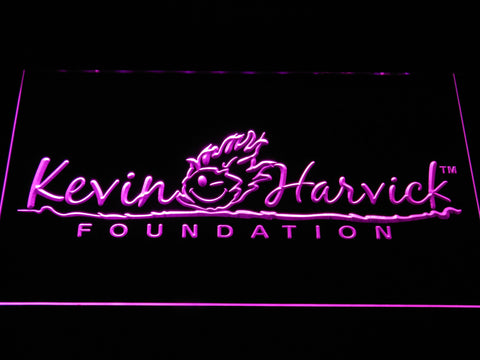 Image of Kevin Harvick Foundation LED Neon Sign - Purple - SafeSpecial