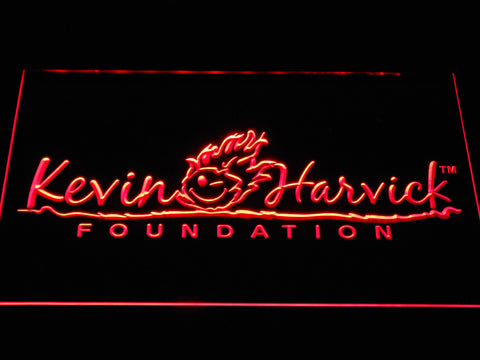 Image of Kevin Harvick Foundation LED Neon Sign - Red - SafeSpecial