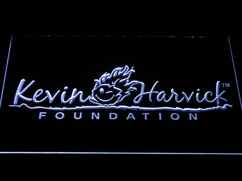 Image of Kevin Harvick Foundation LED Neon Sign - White - SafeSpecial