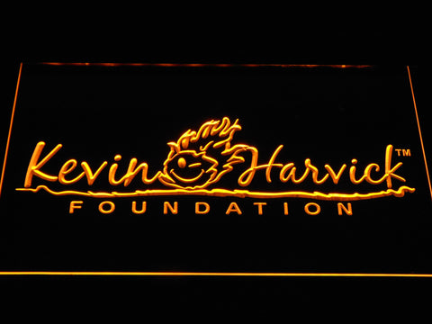 Image of Kevin Harvick Foundation LED Neon Sign - Yellow - SafeSpecial