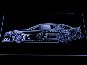 Kevin Harvick Race Car LED Neon Sign - White - SafeSpecial