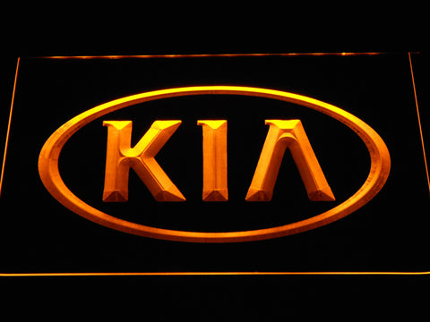 Image of Kia LED Neon Sign - Yellow - SafeSpecial