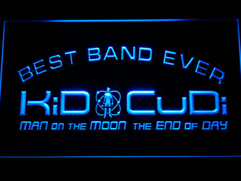 Kid Cudi Best Band Ever LED Neon Sign - Blue - SafeSpecial