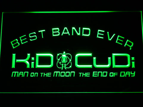 Kid Cudi Best Band Ever LED Neon Sign - Green - SafeSpecial