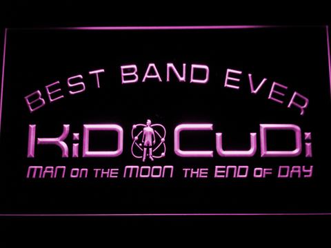 Kid Cudi Best Band Ever LED Neon Sign - Purple - SafeSpecial