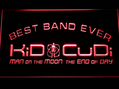 Kid Cudi Best Band Ever LED Neon Sign - Red - SafeSpecial