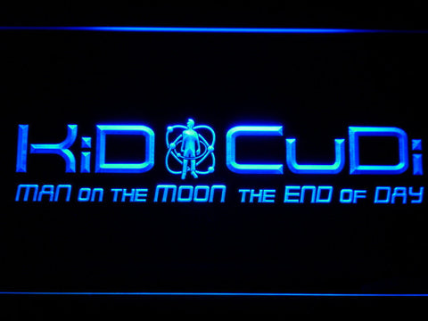 Image of Kid Cudi Man On The Moon LED Neon Sign - Blue - SafeSpecial