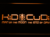 Kid Cudi Man On The Moon LED Neon Sign - Orange - SafeSpecial