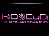 Kid Cudi Man On The Moon LED Neon Sign - Purple - SafeSpecial