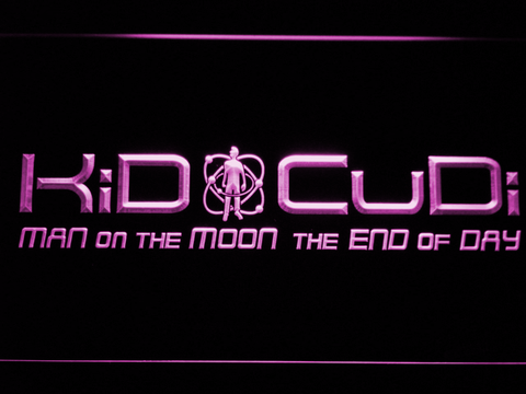 Image of Kid Cudi Man On The Moon LED Neon Sign - Purple - SafeSpecial