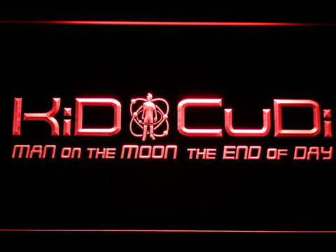 Image of Kid Cudi Man On The Moon LED Neon Sign - Red - SafeSpecial